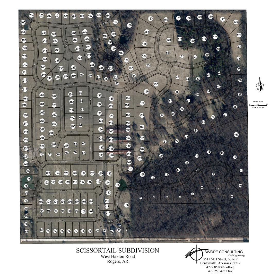 Scissortail Community Aerial Map