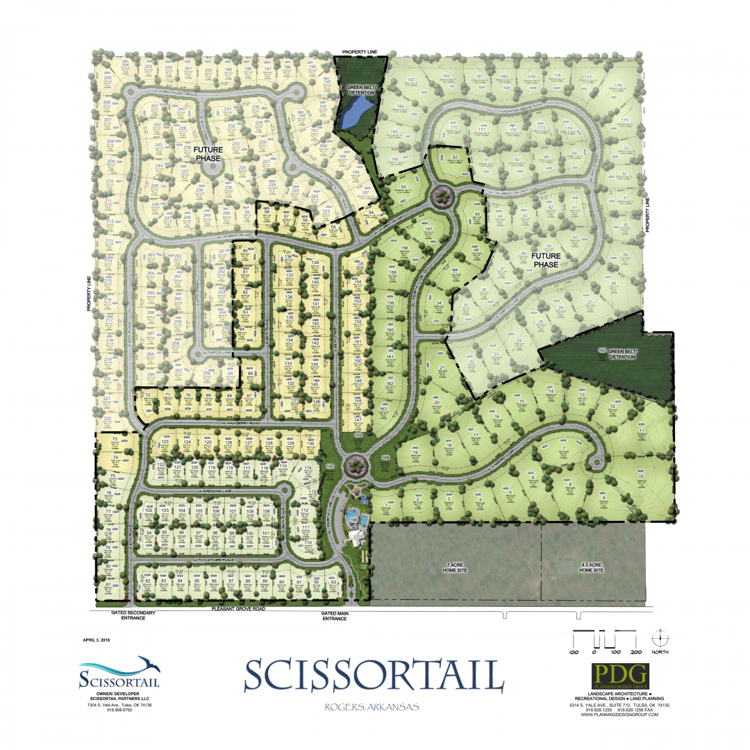 Scissortail Lot map