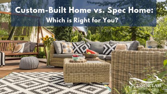 custom built home, spec home, new construction, new homes in Bentonville, Scissortail