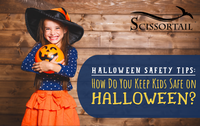 Halloween safety tips, keep kids safe, neighborhoods, trick-or-treating, costumes,